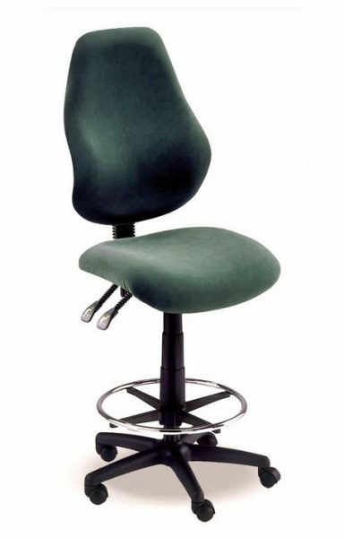 Draughtsman chair with chrome footring