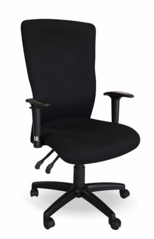 Ergonomic office chair with height adjustable armrests