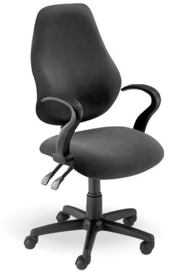 Typist Chair with fixed armrests