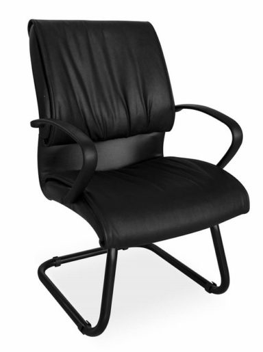 Visitor Chair in Black PVC