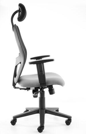 Ergo chair with adjustable headrest