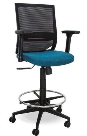 Mesh Back Draughtsman chair with Adjustable armrests
