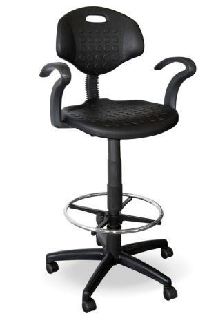 Cub Draughtsman Chair with chrome footring