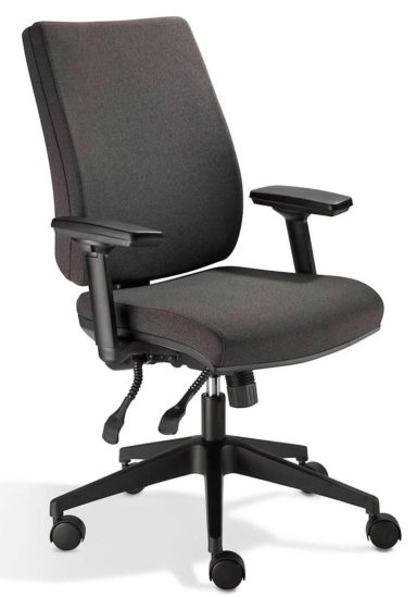 Orthopedic chair with adjustable armrests