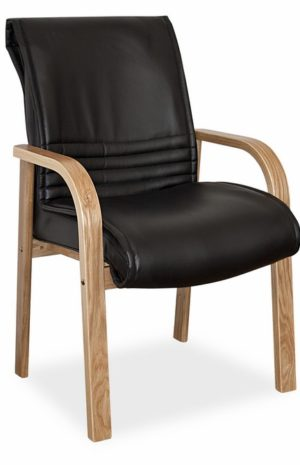4 Leg Visitor Chair in Wood