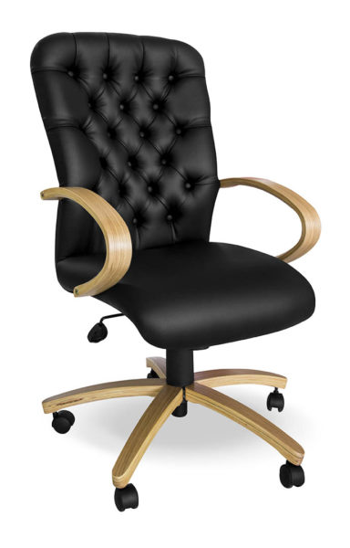 High Back Executive Chair in Wood