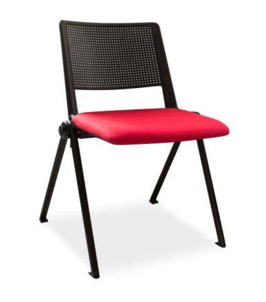 Stacking Chair with Plastic Backrest