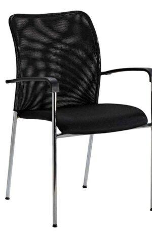 4 Leg Mesh Back Visitor Chair