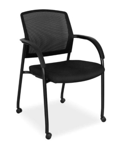 Mesh Back Visitor Chair on Wheels