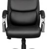 Front view of executive office chair