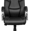 Front view of executive chair