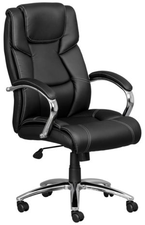 Executive office chair in bonded leather